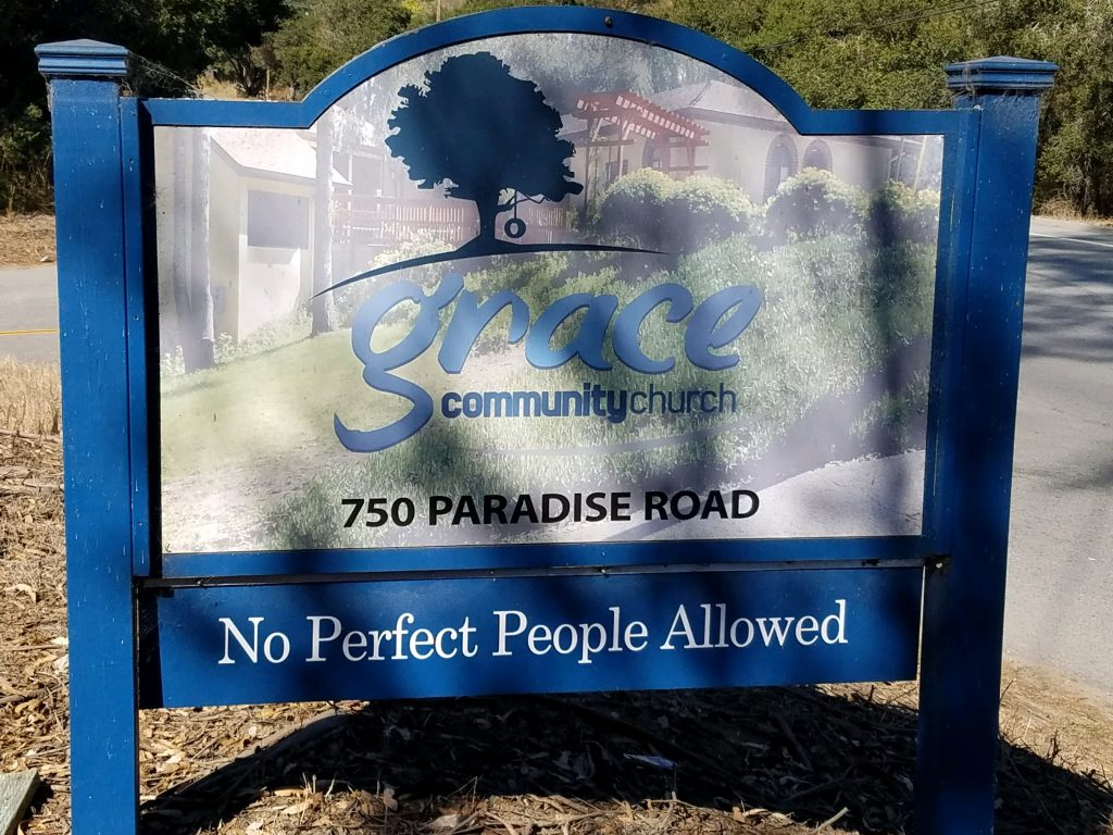 No Perfect People Allowed Sign